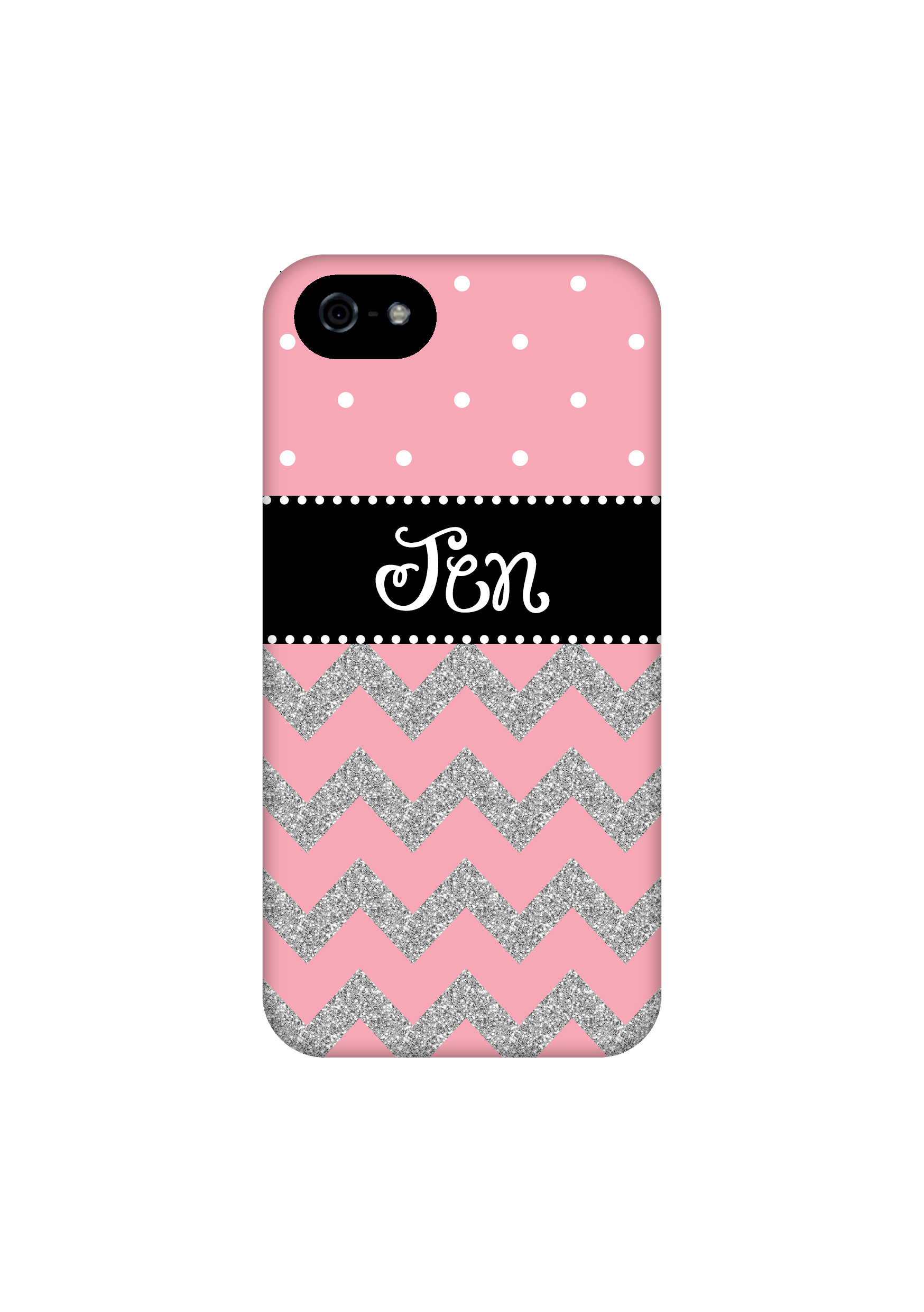 Light Pink Chevron With Silver Glitter Personalized Iphone 6 Case Iphone 6 Plus Case Iphone 5c Case Iphone 5 5s Case Iphone 4 4s Case