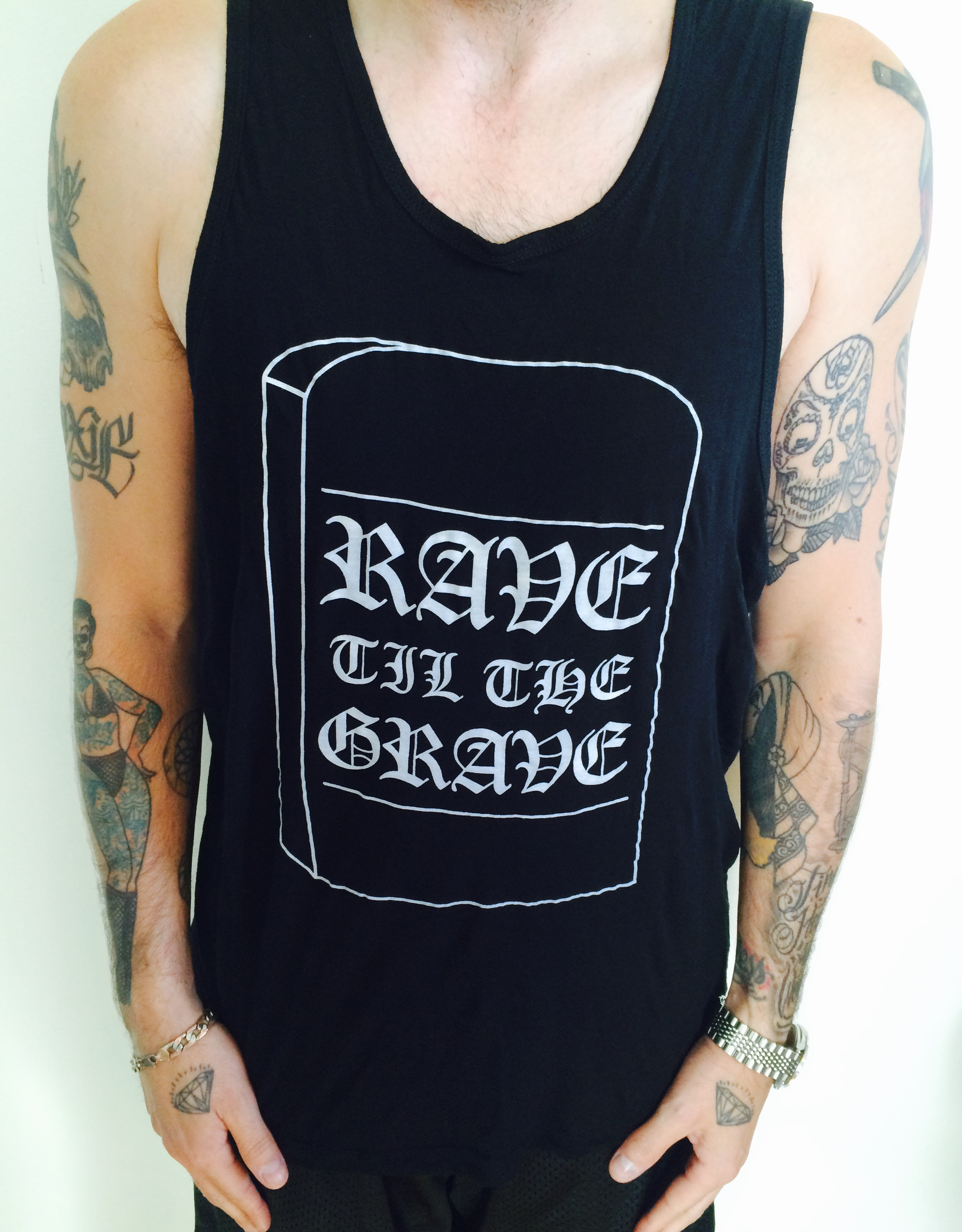 05b8f2a58 RAVE TILL THE GRAVE Tank from LURKER APPAREL