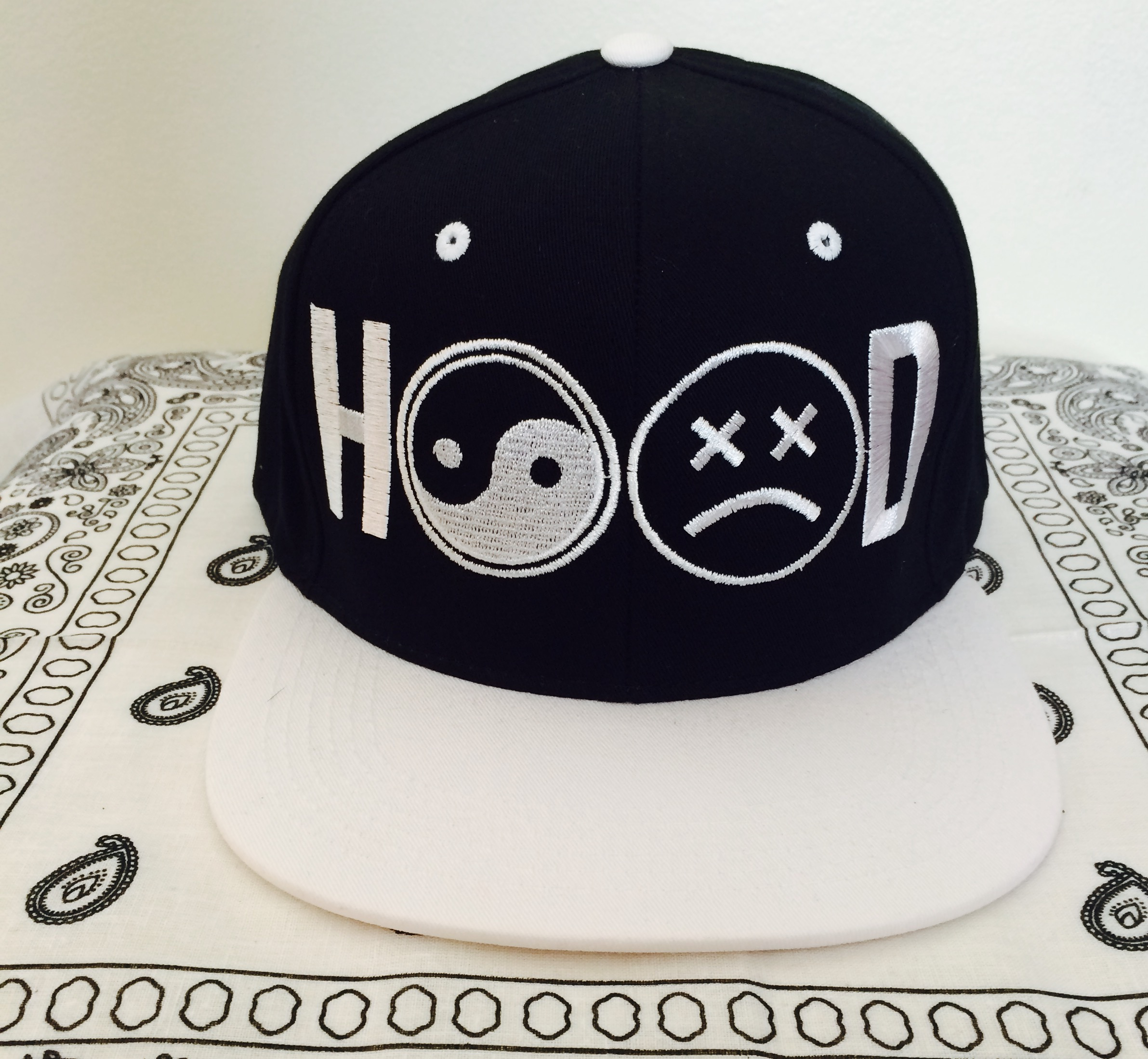 866c07e0d HOOD Snapback-White On Black