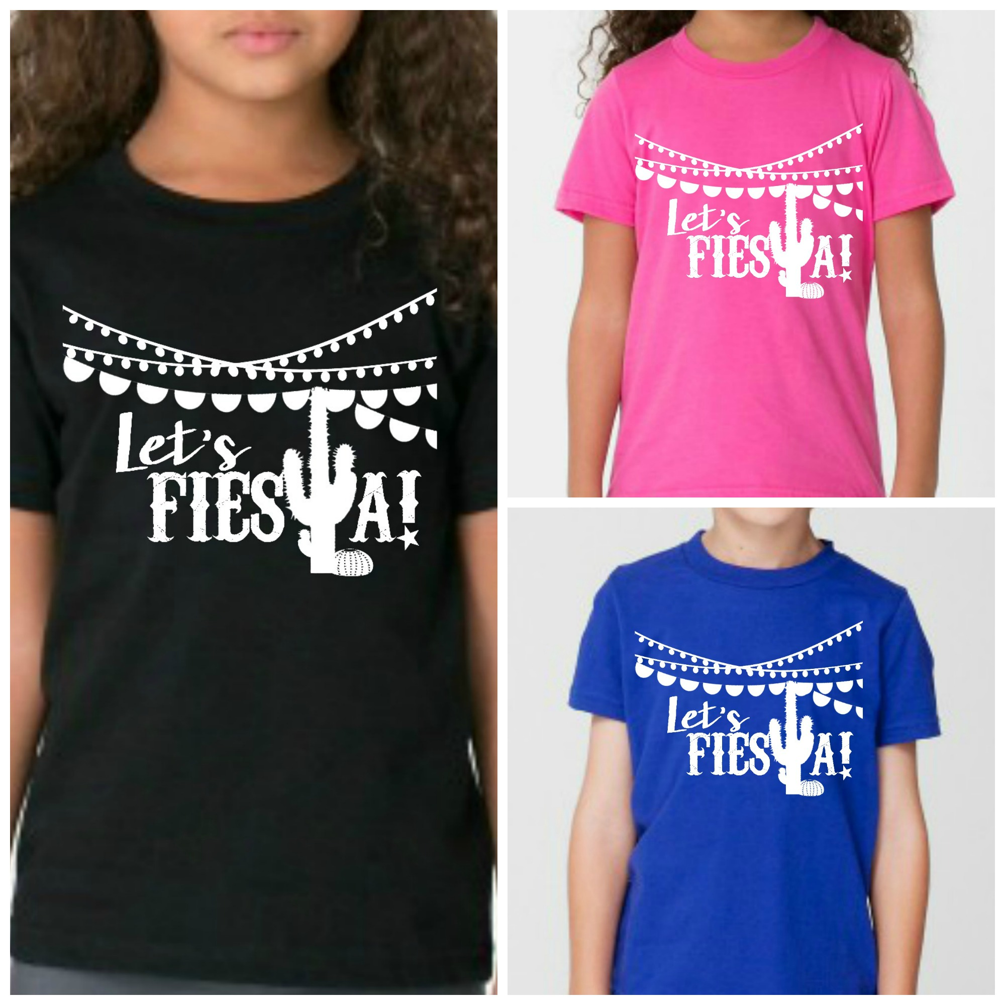 07720b485c275 Let's Fiesta Toddler and Kid Shirt, Graphic Shirt from Five & Feather  Apparel