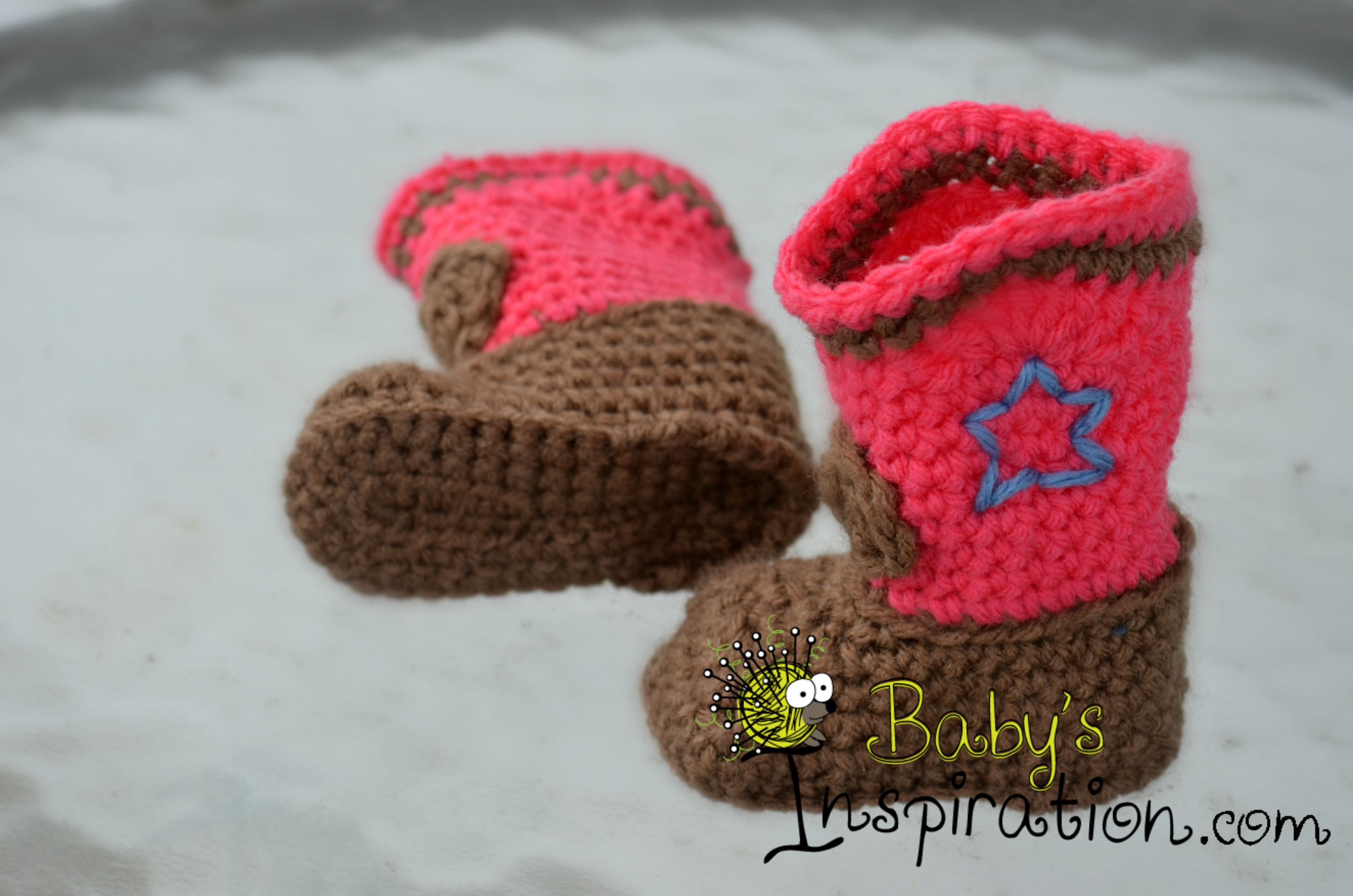 Crocheted Cowboy Or Cowgirl Boots Babys Inspiration Online