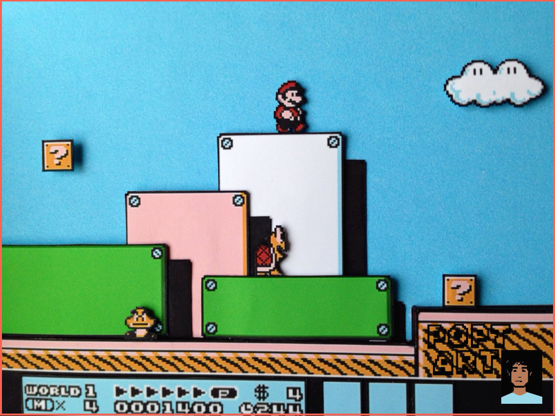 Super Mario Bros 3 Multi Layered Quot 3d Quot Artwork Nes On