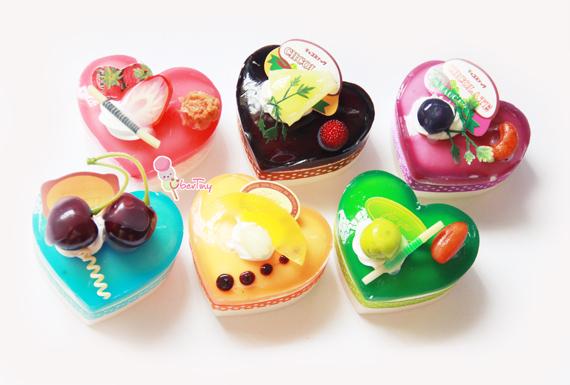 Jelly Glaze Recipe For Cake: Jelly Glazed Heart Cake Squishy · Uber Tiny · Online Store