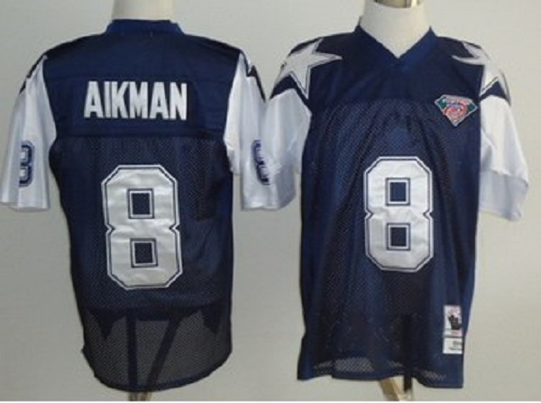 quite nice 904d7 416a3 Troy Aikman Dallas Cowboys Throwback Jersey..blue with white from  mylittleshoppe