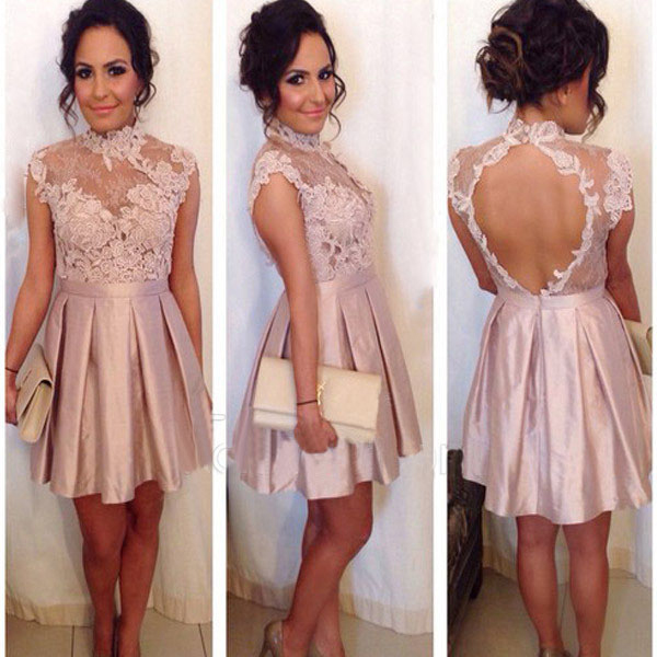 909411aa1435 homecoming dress, short blush prom dress, cheap homecoming dress ...