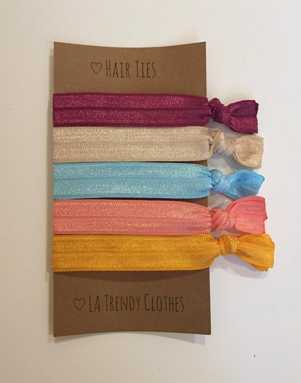 Pack of 5 Hair Ties - Hair Accessories - Bracelet - Hair Elastic ... b2841d935f2