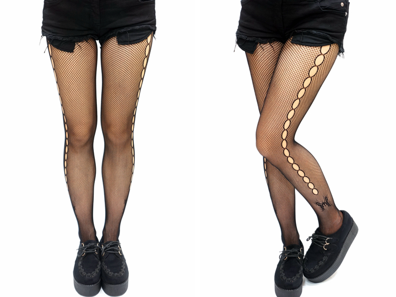 3ac8c8eb0 Gothic Side Dot Butterfly Fishnet Tights · Sandysshop · Online Store ...
