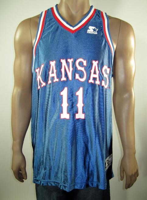 23eb811633f Jacque Vaughn Kansas Jayhawks NCAA Starter Jersey 52 NWT on Storenvy