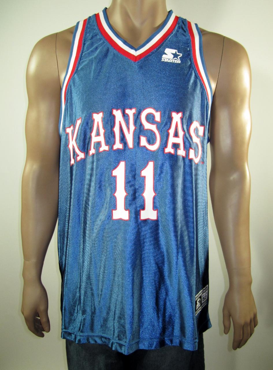 ba03252685f Jacque Vaughn Kansas Jayhawks NCAA Starter Jersey 52 NWT · DFRNSH8 ...