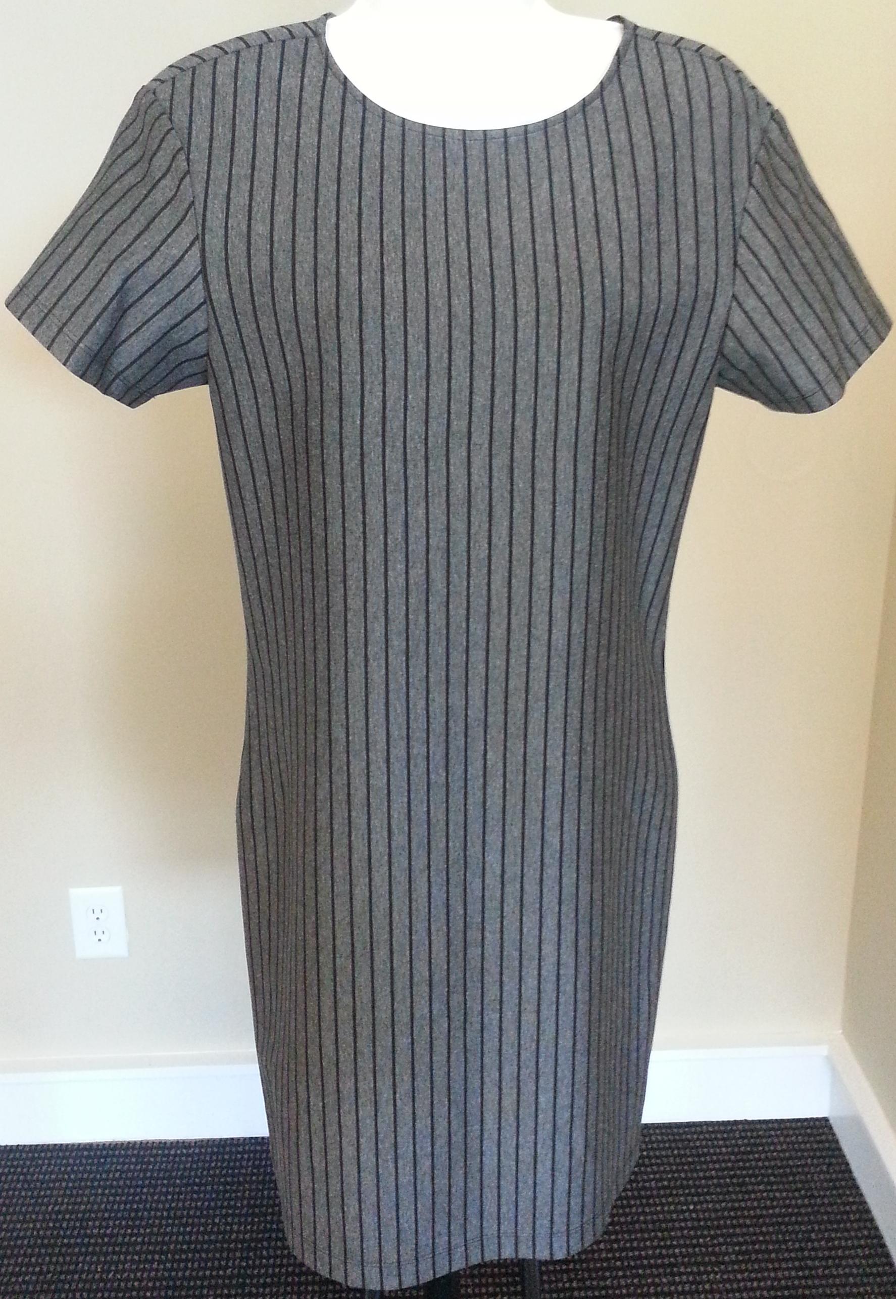 bf58886384 T Shirt Dress in Medium Grey with Black Pencil Stripes on Storenvy