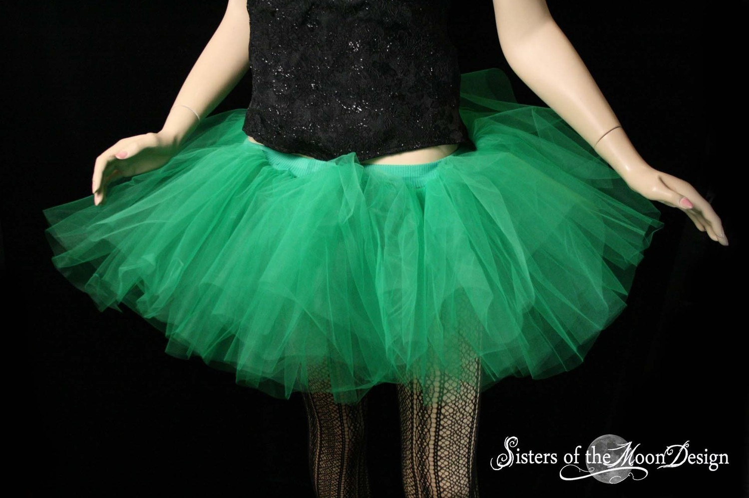 Tutu Skirt Adult Monster Green Extra Poofy Fairy Fae Halloween