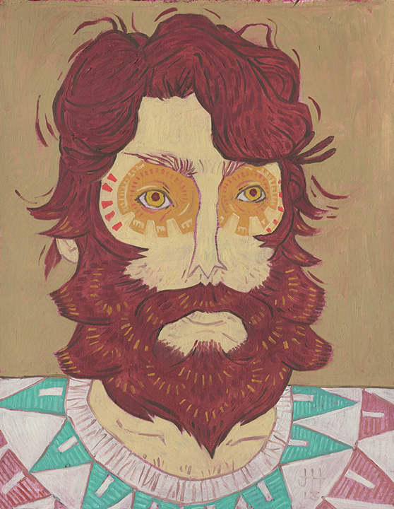 The Owl - Beard Series | 9 x 12 in Art Print | mustache wall art on ...