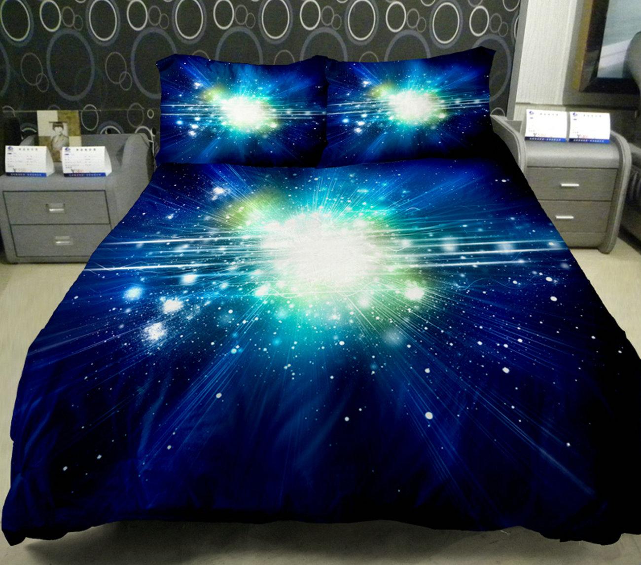 2ddf157106 Anlye Dorm Bedding Of Home Decorating Ideas Set 2 Sides Printing Galaxy  Quilt Duvet Coverlet Galaxy