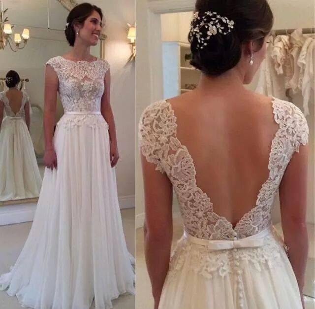 2015 Lace Prom Dress, White Beaded Crystal Prom Dress,Wedding Dress ...