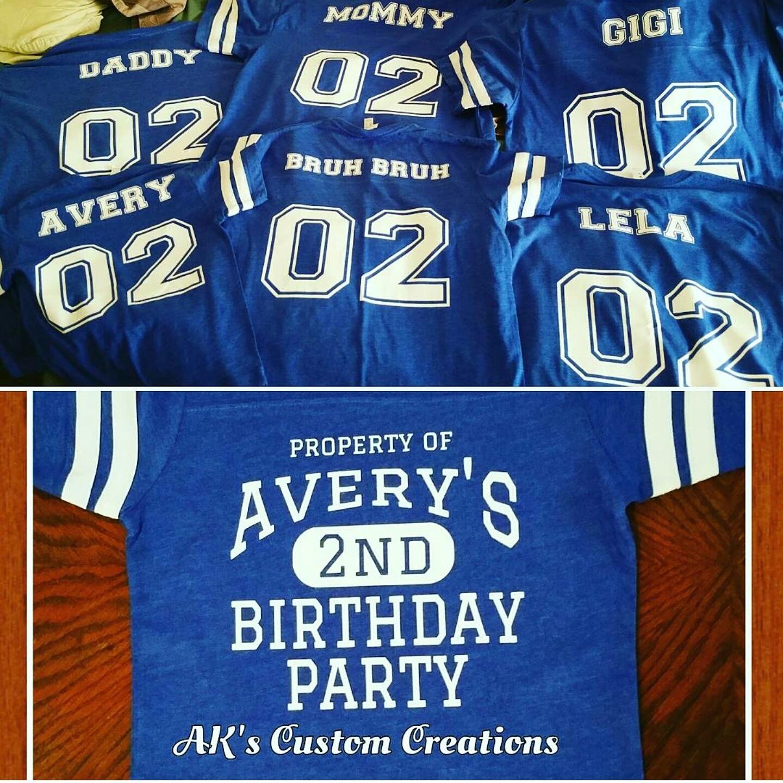 Custom Birthday Football Jersey T Shirts On Storenvy