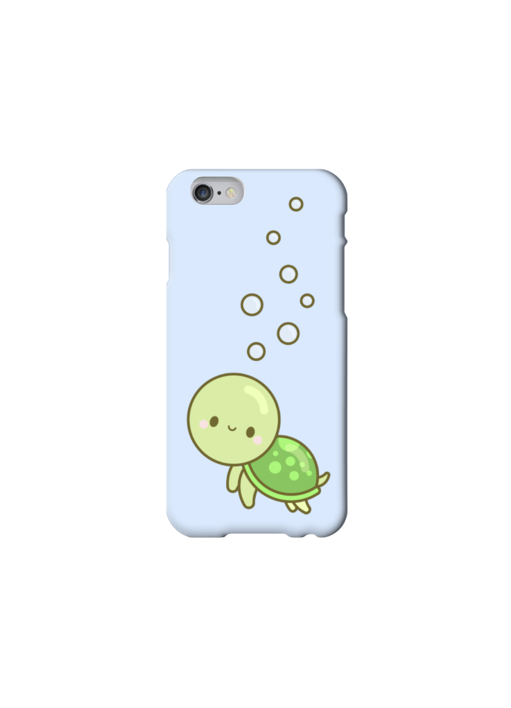 Cute Smiley Turtle With Bubbles Kawaii Iphone 6 5 5s 5c 4 4s Case