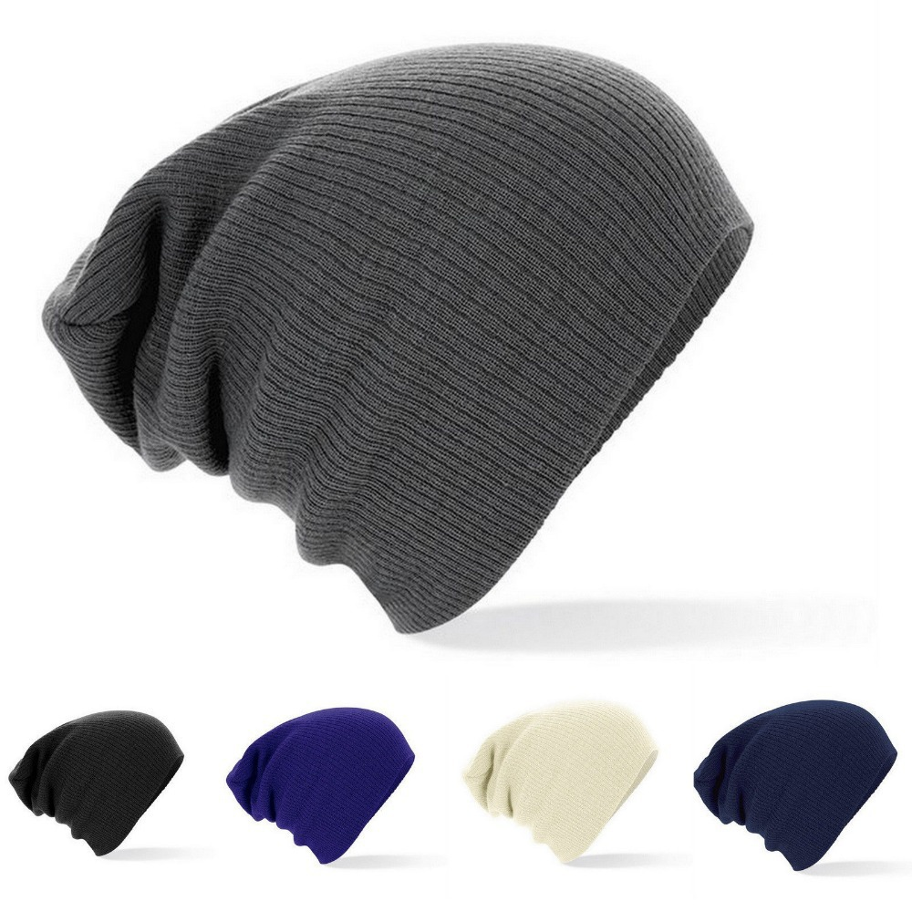 2fd3c3f94ea1f 2015 new winter beanies solid color hat unisex plain warm soft beanie skull knit  cap hats