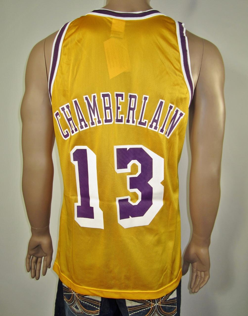 92ad8a89f Wilt Chamberlain Los Angeles Lakers NBA 50 Gold logo Champion Jersey NWT -  Thumbnail 1 ...