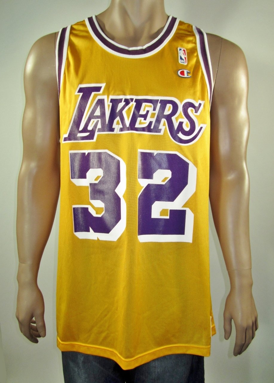 save off 2de2e 649b6 Magic Johnson Los Angeles Lakers Champion Jersey 48 NWT from DFRNSH8