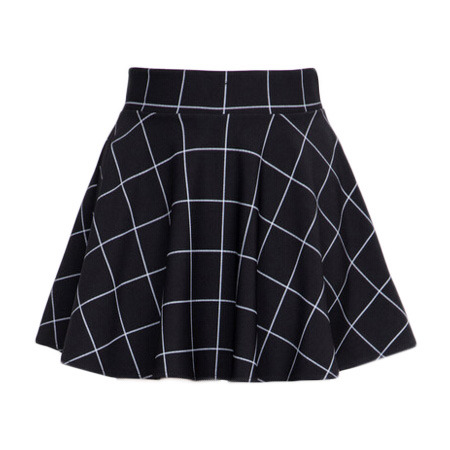 Black Grid Skirt On Storenvy