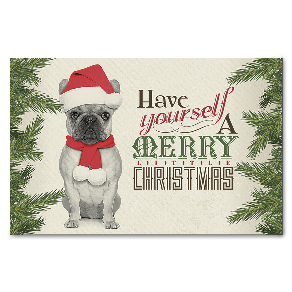 French Bulldog Merry Little Christmas Greeting Cards on Storenvy
