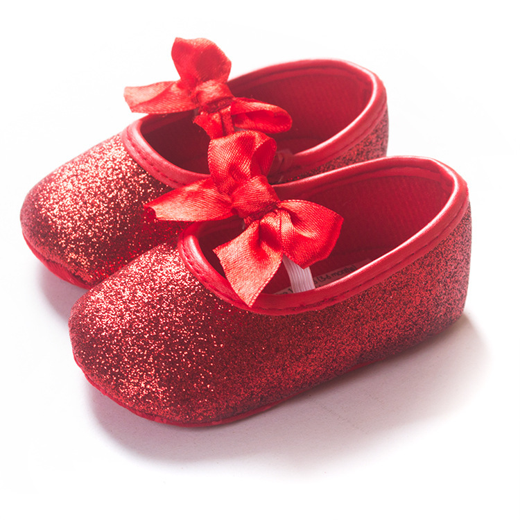 d2795675b7071 Red Sparkly Glitter Baby Shoes from NM Kids Boutique