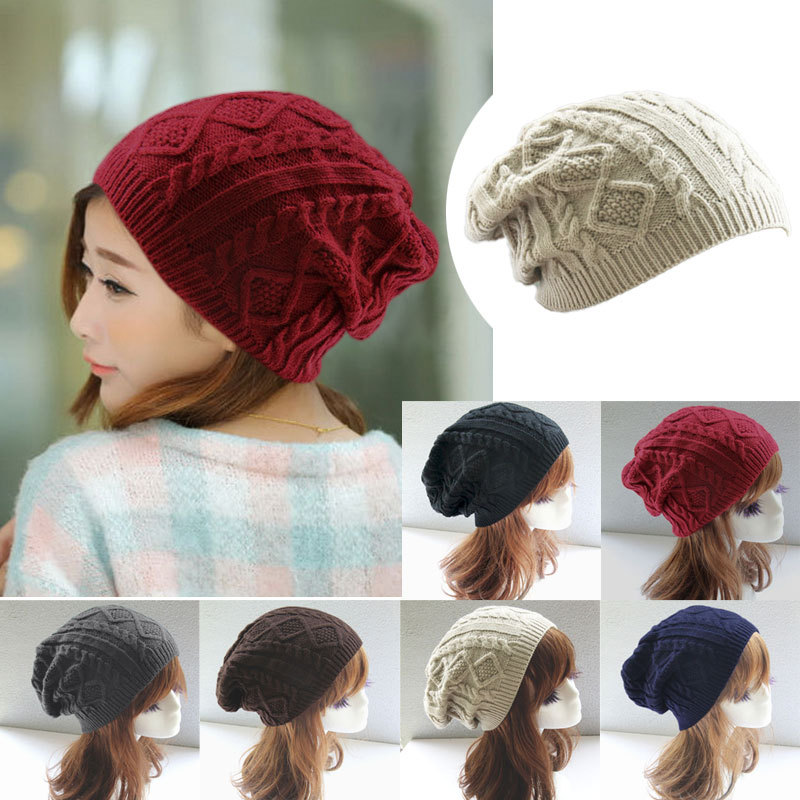 Women new design caps twist pattern women winter hat knitted sweater  fashion beanie hats for women e1bab2465df