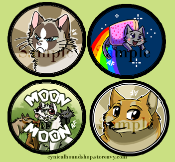 Internet Memes- Grumpy Cat, Nyan Cat, Doge, and   ugh, Moon Moon from  CynicalHound Creations Shop