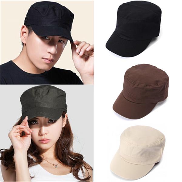 Men   Women Korean Fashion Flat Outdoor Army Hat Baseball Cap ... 608e1538ce1