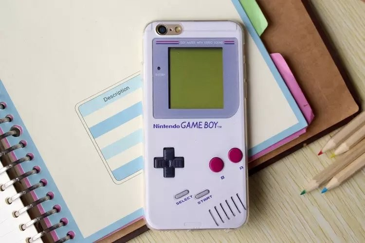 half off c0f33 27dd1 iPhone 6 6S Plus Clear TPU Gameboy Handheld Computer Case