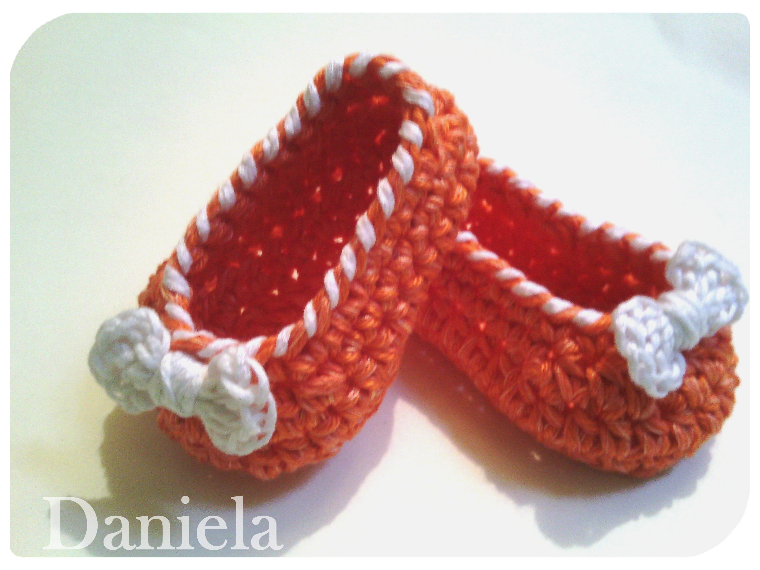 Bow Candy Cane Girls Ballet Shoes Or Ballet Slippers Baby Crochet