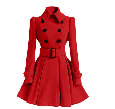 aabaf9cb7ff4 Women s Chic Belt Long Sleeve Winter Coat Dress on Storenvy