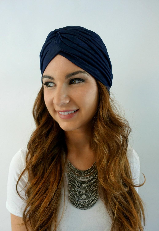 Navy blue turban cap women s turban hat 2ffcbbd3c369
