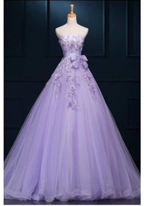 61ebff337a Newest Violet Ball Gown Prom Dresses,Elegant Lace Tulle Prom Dresses For  Teens,Quinceanera
