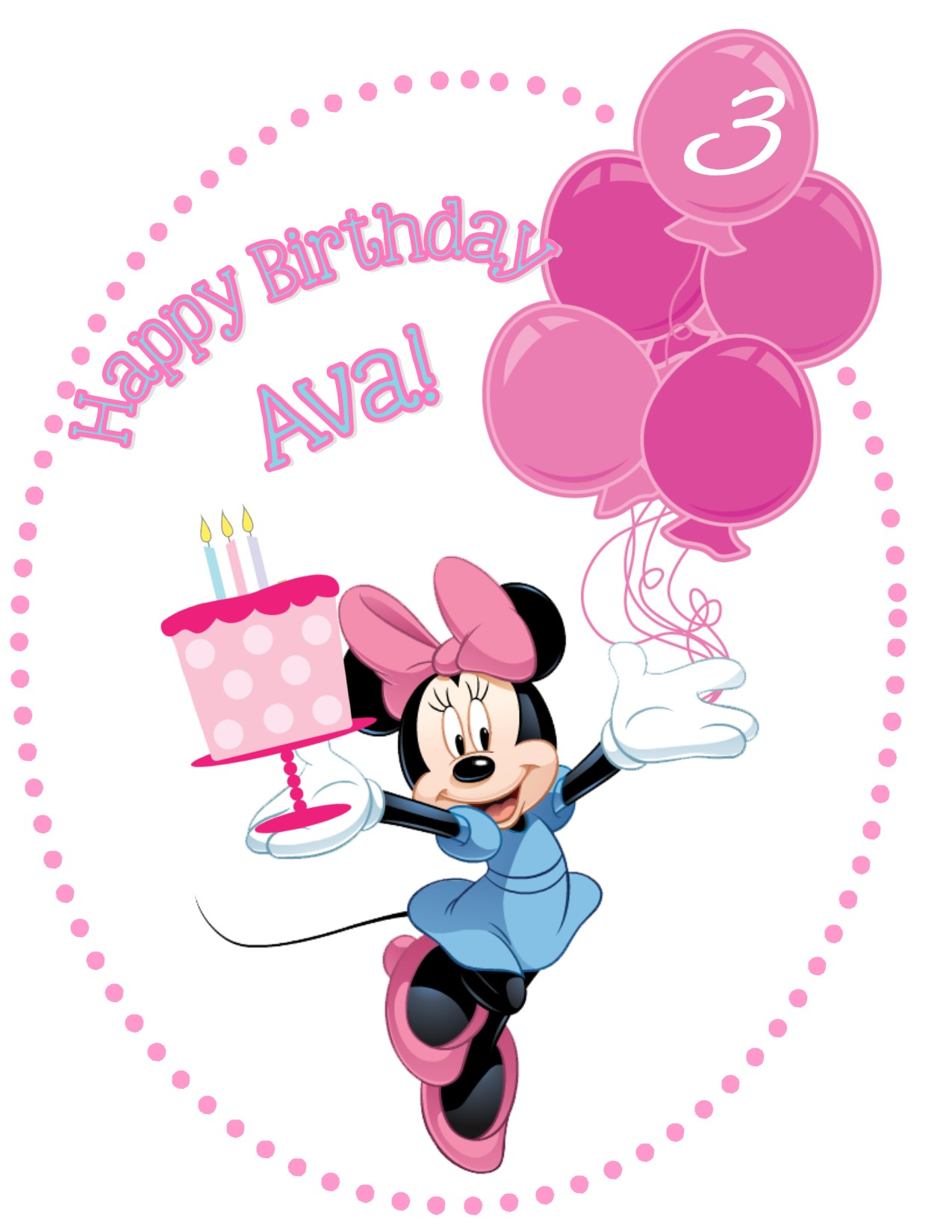 Minnie 20mouse 20birthday 20with 20background Original