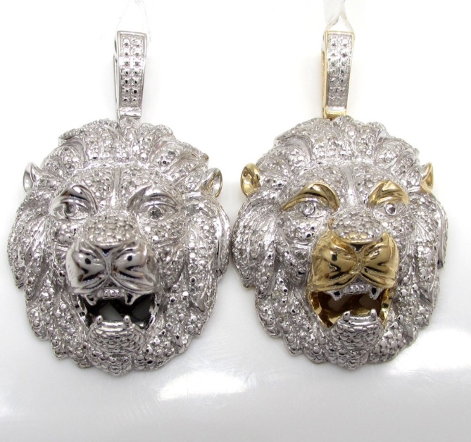 10k solid gold lion pendant 040ct a with chain dfine lifestyle 10k solid gold lion pendant 040ct a with chain aloadofball Image collections