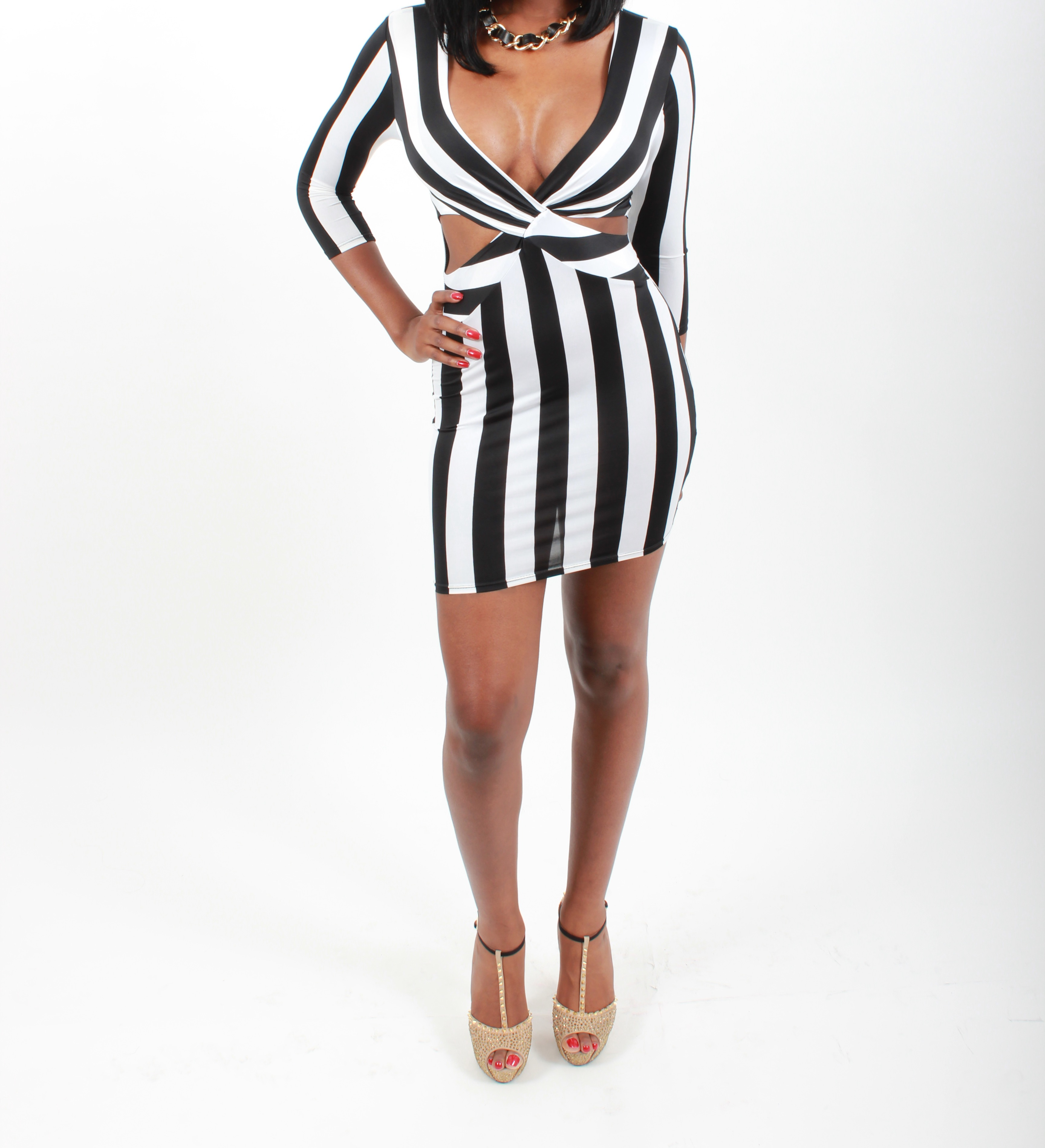 9ee4be0501 Striped Dress Black and White · Diva Boutique Online · Online Store ...