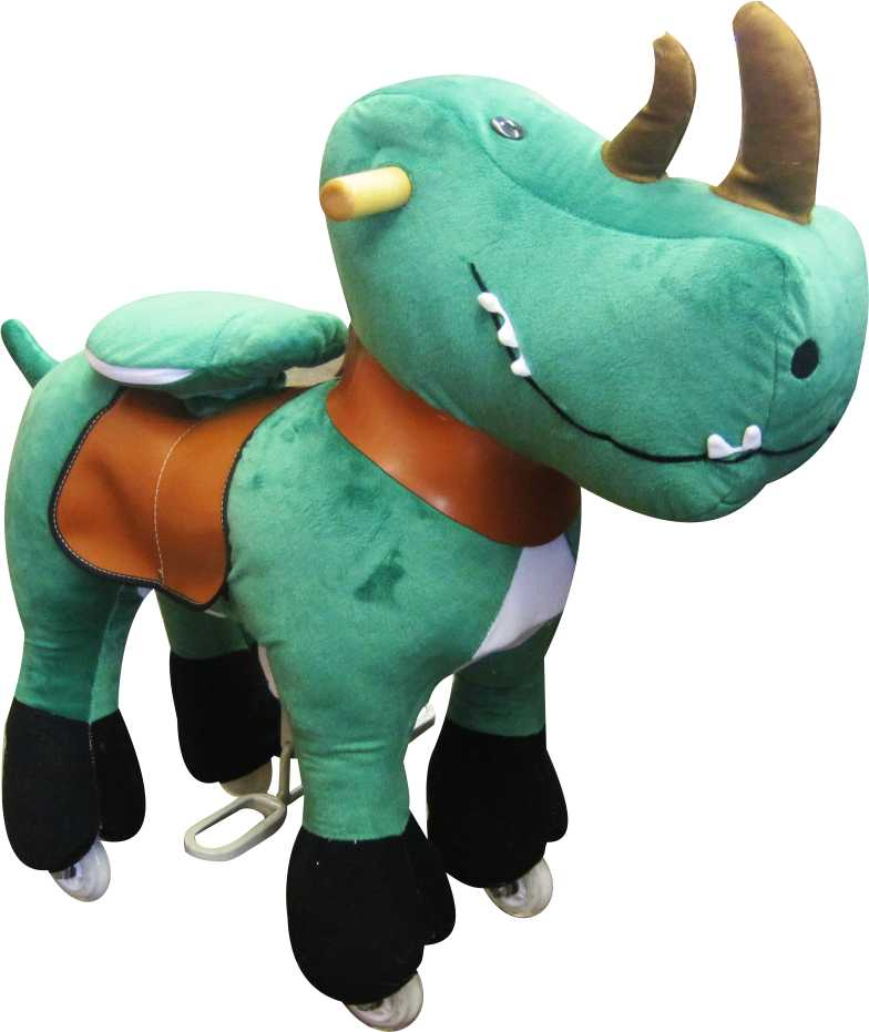 6f5b28c589c ... Ponycycle - SMALL RHINO-DINOSAUR Ponycycle Pony Cycle No Need Battery  No Need Electric Just Rock Walking Ride On Toy Horse for Ages 3 - 5 on  Storenvy