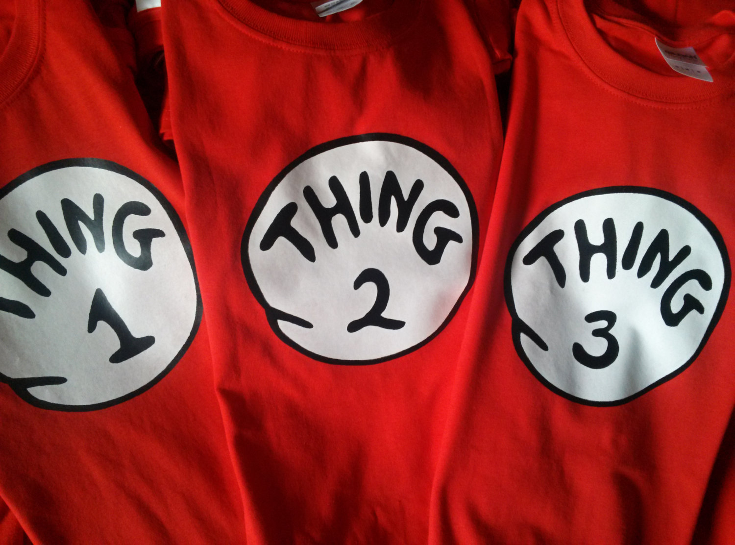 Thing 1 2 3 Seuss Shirt Personalized On Storenvy