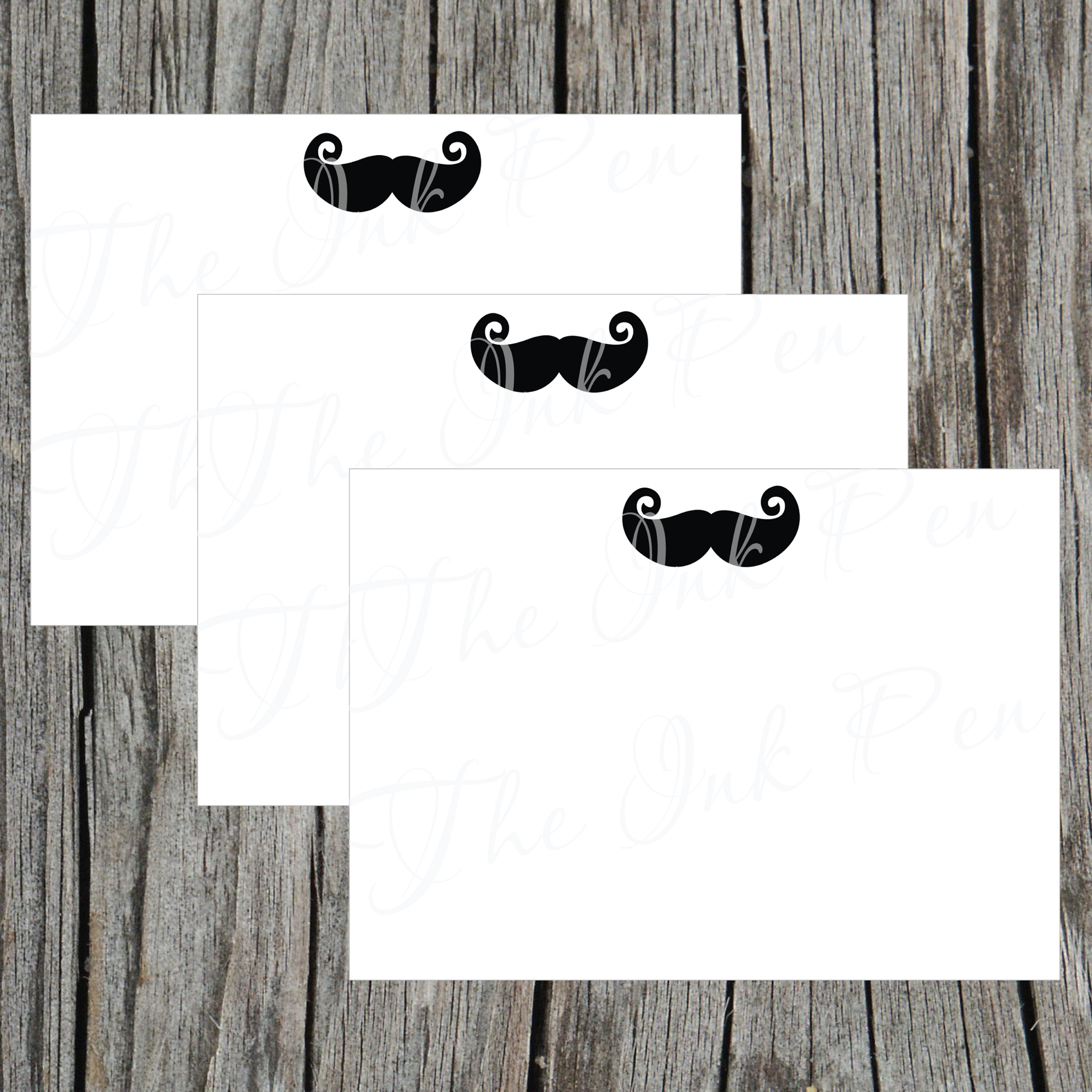 image about Printable Notecard identify Mustache Electronic Printable Notecard bought through Ooh La La Printables