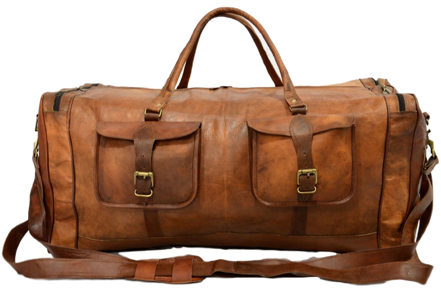 9ba17794150a Vintage Leather Travel Bag for Men and for Women. 28