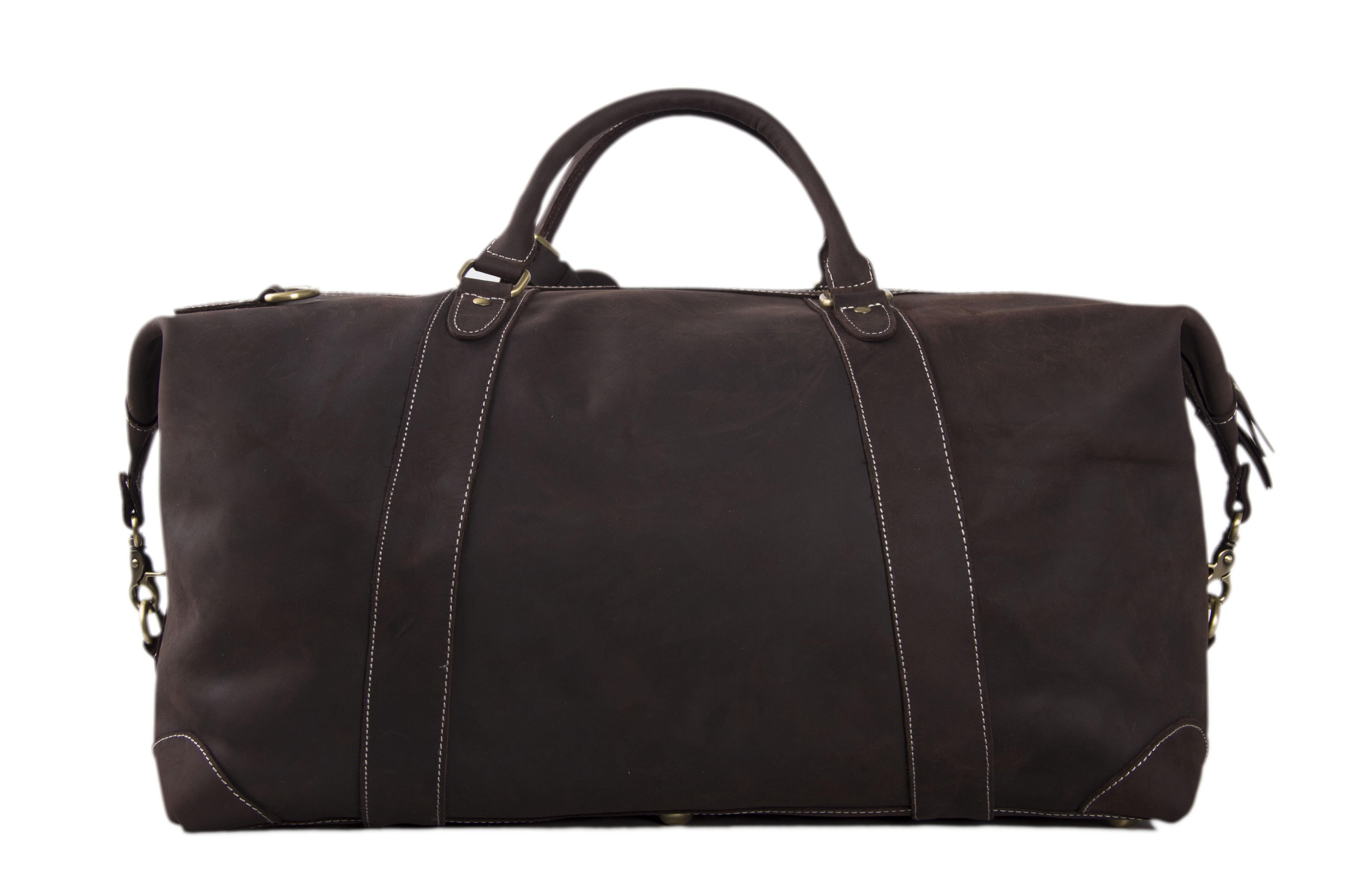 ... Handmade Vintage Genuine Cowhide Leather Travel Bag   Duffle Bag   Weekender  Bag DZ07 - Thumbnail ... 79674ac8781bc