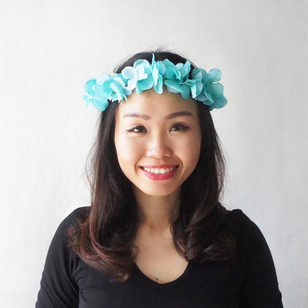 Aqua blue flower crown bridal flower crown bridesmaid hair crown aqua blue flower crown bridal flower crown bridesmaid hair crown wedding hair accessory izmirmasajfo