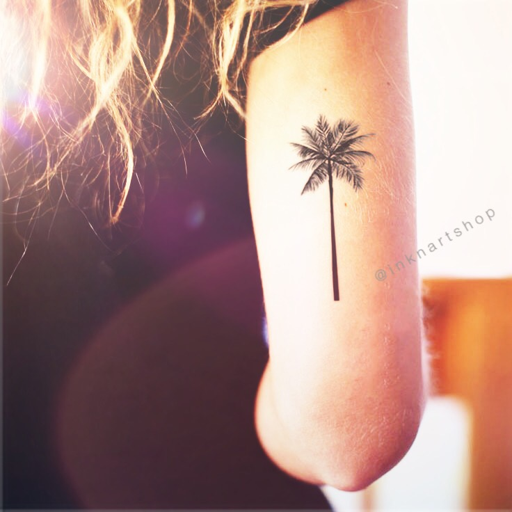 Small Tattoo Size: 2pcs Palm Tree Tattoo 2 Sizes