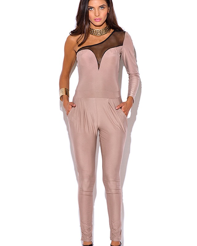 5c82b69884c Nude Beige Evening Jumpsuit from Kitty Chics Closet