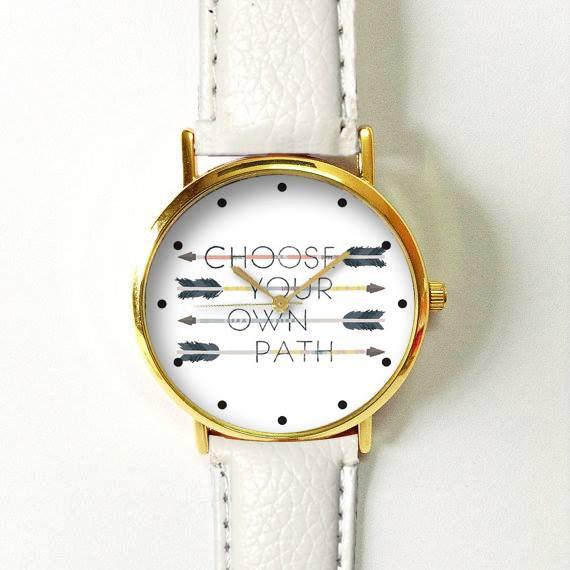 Watch Time Quotes: Arrow Watch , Women Watches, Leather Watch, Boyfriend