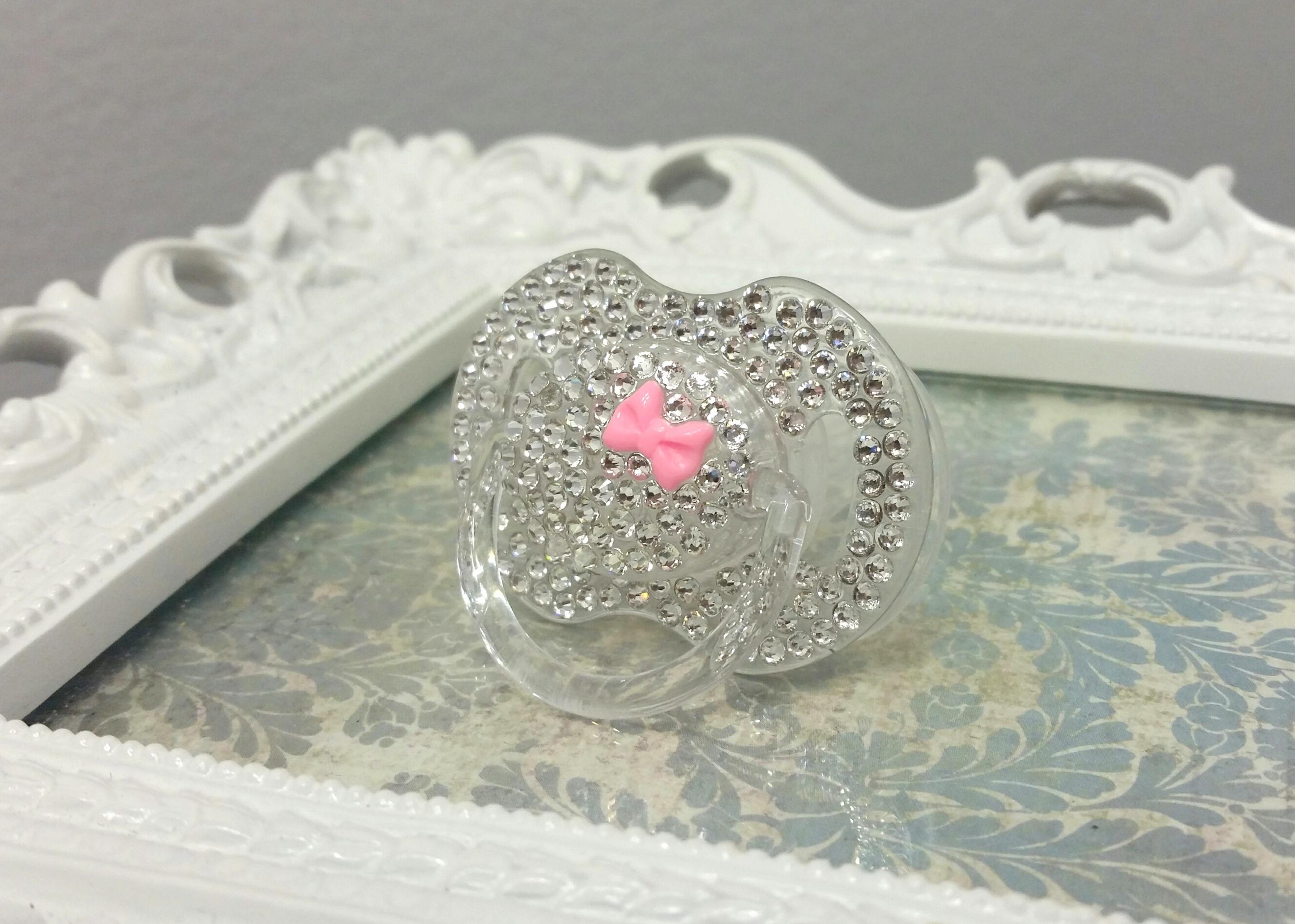 68eebda126e5 JEWEL Swarovski crystal pacifier - pink on Storenvy