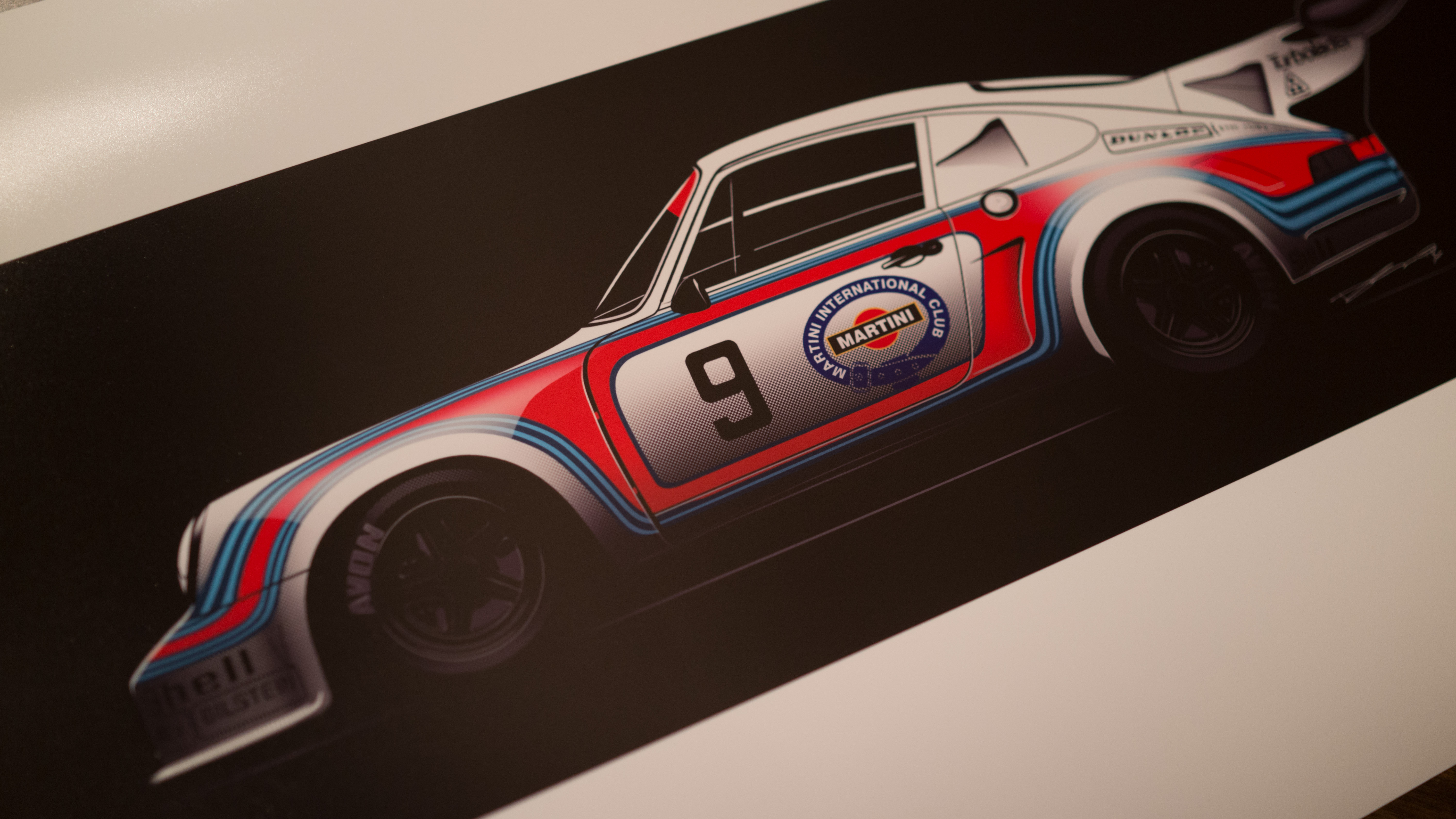 martini racing porsche 911 rsr turbo sideview 20 piece. Black Bedroom Furniture Sets. Home Design Ideas
