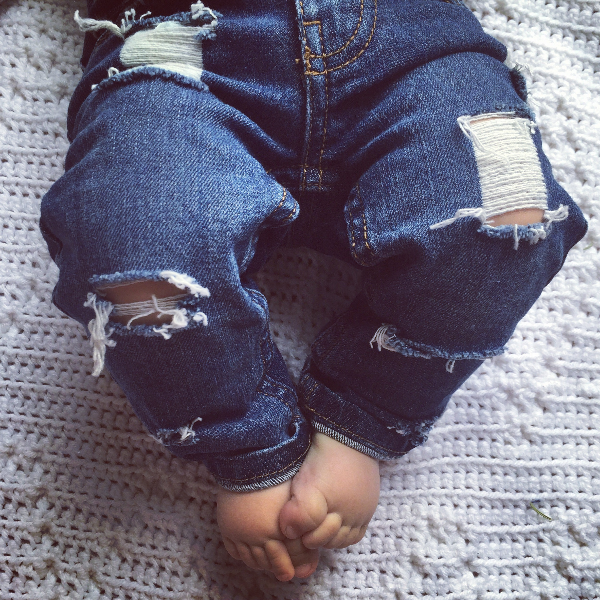 55a55526b Made to Order Custom JUST SHRED Distressed Denim Jeans Pants Baby Toddler  Kids