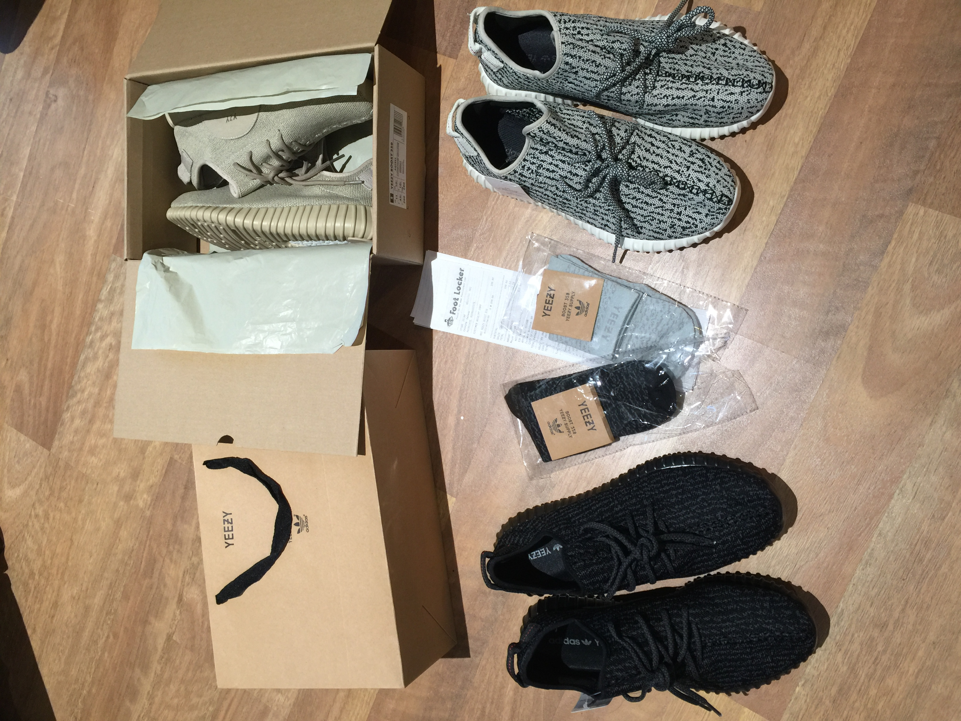 watch 07bc9 951d4 UA Yeezy 350 Boost Oxford Tan, Pirate Black, Turtledove, Moonrock w/  receipt, socks and box Size 11 sold by DEELs